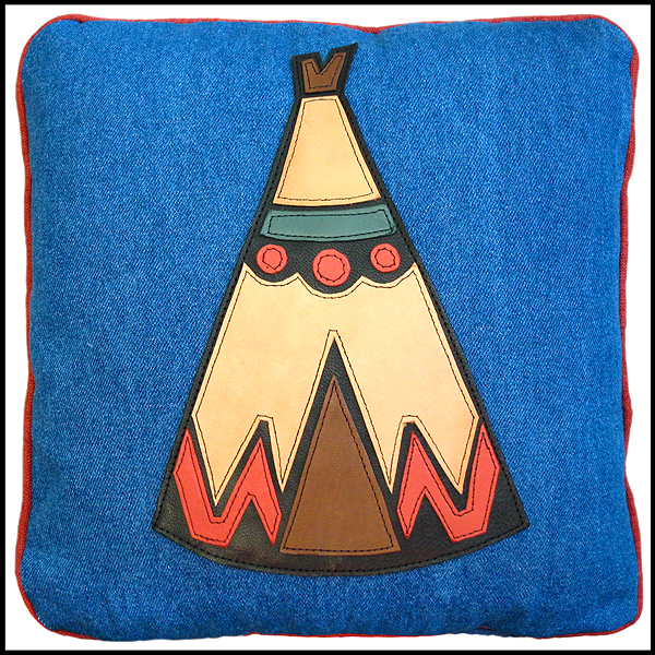 coussin tipii indien