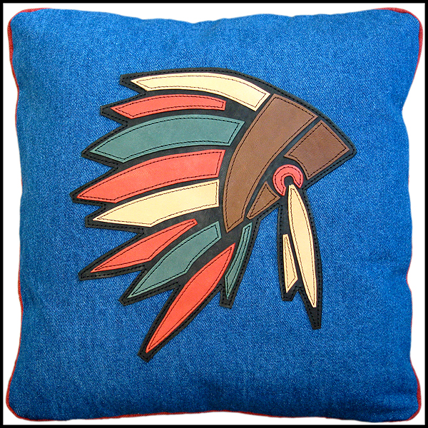 coussin coiffe indienne