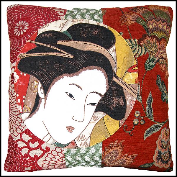 coussin geisha tissus d'éditeurs