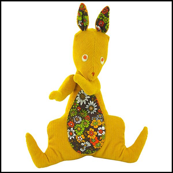 doudou ecureuil josef jaune
