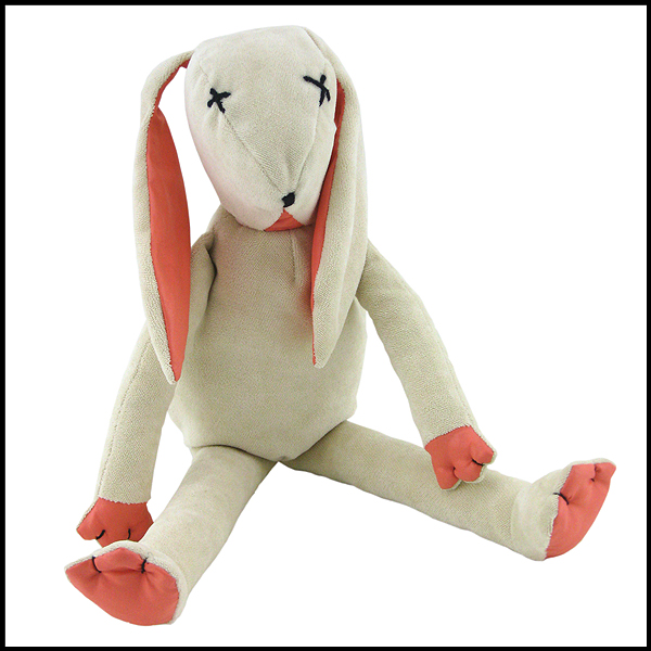 doudou lapin maurice blanc