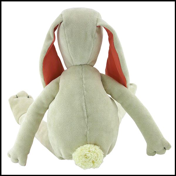 doudou lapin velours blanc
