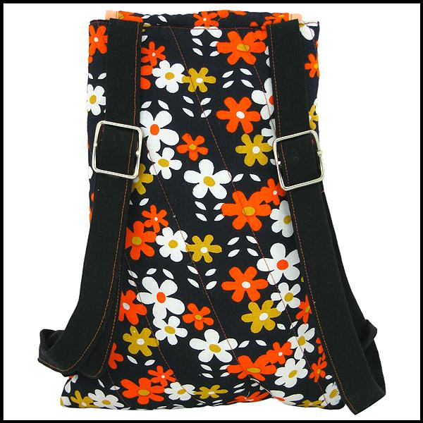 sac à dos petites fleurs vintage
